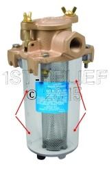 Perko Lichtgewicht Intake Water Filter - Spare transparante cilinder Body
