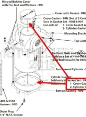 Perko Большой водозаборных Фильтр - Запасной комплект прокладок