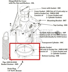 Perko Grote Intake Water Filter - Spare Bottom Casting
