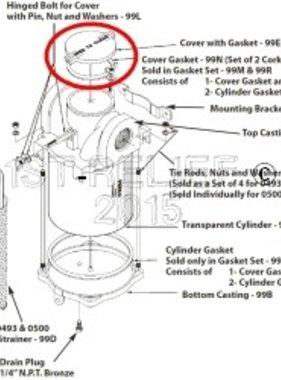 Perko Большой водозаборных Фильтр - Запасная крышка с прокладкой