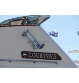 Kahlenberg D-0A Schiffshorn, zwei Trompeten, White Powder Coat Finish oder Chrome Finish