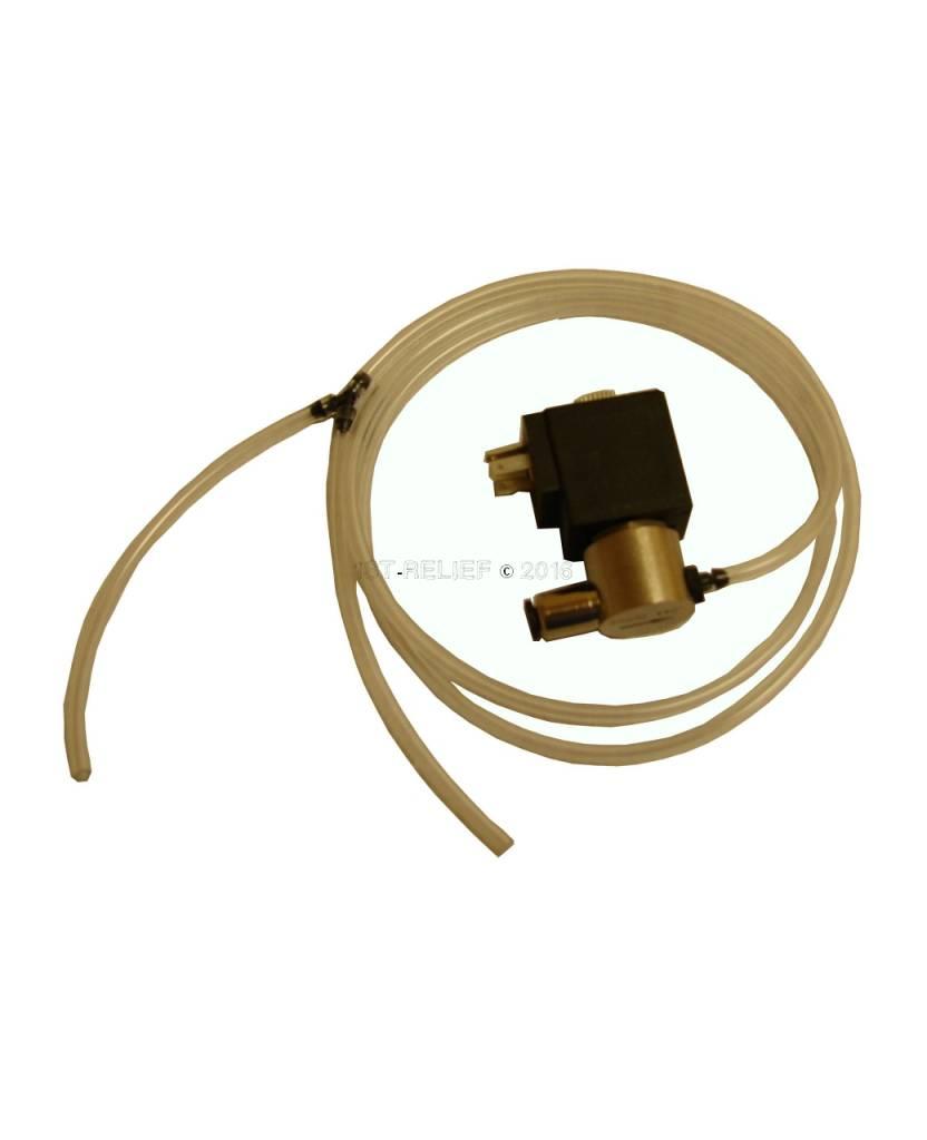 Kahlenberg V-170-K-Elektromagnetventil-Set, 12 VDC, 10-32 Themen, Öffner, Messing, vernickelt, einschließlich der Armaturen und der U-
