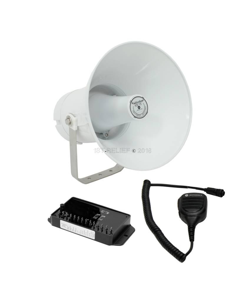 Kahlenberg KB-15x elektronisches Schiffshorn / Voice Hailer in grau oder weiß, 12-24 VDC (Optionen: Bluetooth, Talkback)