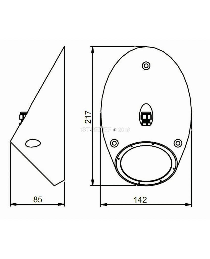 Astel Conus MST18240 Hochleistungs-LED-Unterwasserbeleuchtung als schräge Kegelstumpf ausgebildet