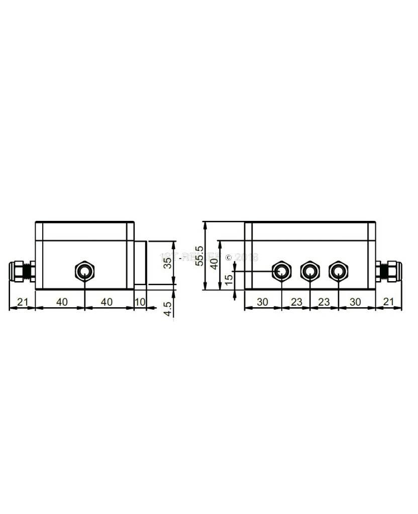 Astel Plaquette MFM0680 LED onderwater verlichting voor verzonken-mount installatie