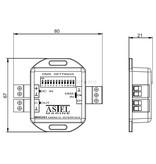 Astel DMX512 Interface MXU01 lichtsturing met behulp van de standaard DMX512 digitale communicatienetwerk.