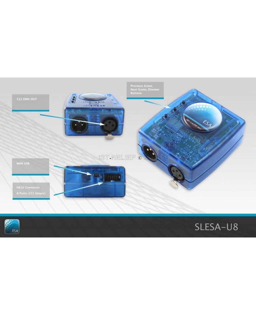 Nicolaudie DMX512 Controller SLESA-U8 - standalone controllers