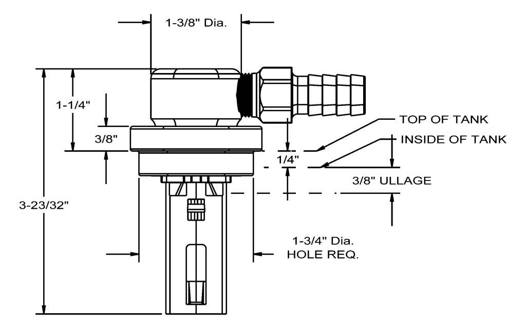 Perko Füllstand-Begrenzungsventil (drehbar, Aluminium-Tank)