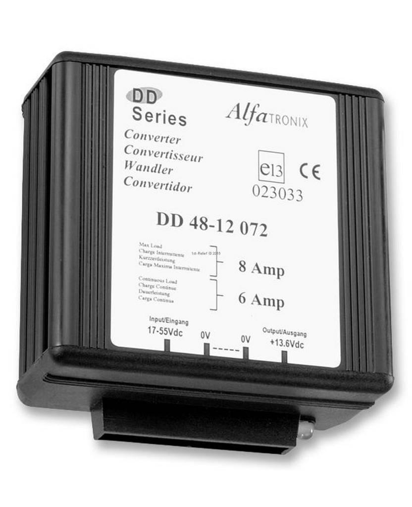 Alfatronix 48 VDC auf 12 VDC Spannungswandler nicht-isoliert