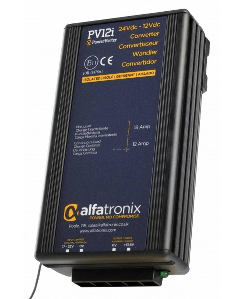 Alfatronix 24 VDC tot 12 VDC Power Converter geïsoleerde