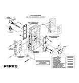Perko Kabinen Türbeschlag mit Drücker und drehbarem Knauf, absperrbar