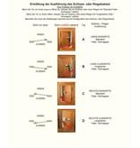 Perko Cabindoor - Flush Cup Rim Klink set met deurkruk en beker handvat, deur-sluitknop