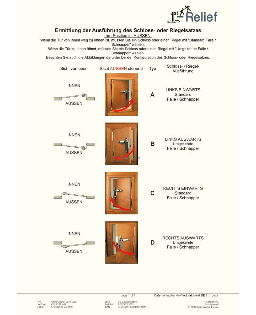 Perko Cabindoor - Compatto infilare serie di agganci con le maniglie, maniglia della porta-fermo