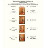 Perko Cabindoor - Full Size Rim Lock Set met handgrepen, sleutel afsluitbaar