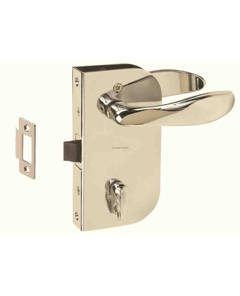 Perko Cabindoor - Flush klink set met handgrepen, deur-sluitknop