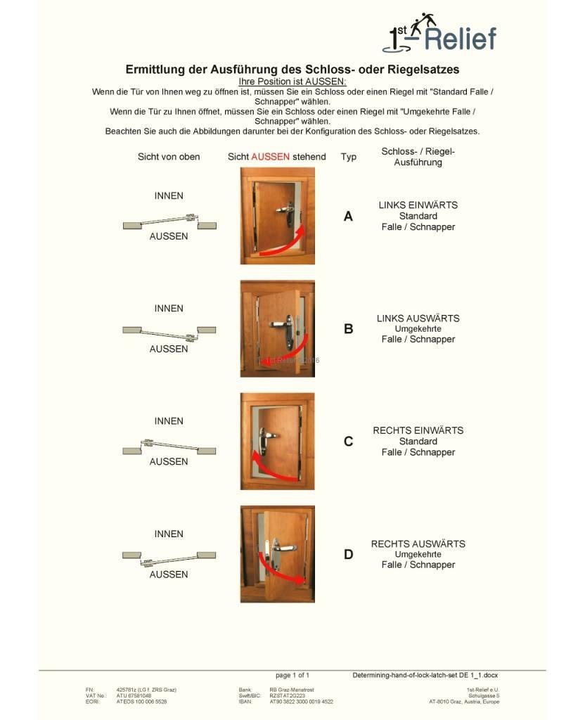 Perko Cabindoor - Flush lock set met handgrepen, sleutel afsluitbaar
