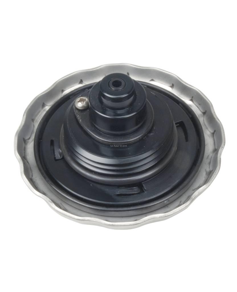 Perko Benzine-vulpijp met ratcheting zegel, syntetic hars inlay en vacuüm opluchting / overdruk relief (Vopr)