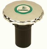 Perko Diesel-, Wasser- oder Abfall- Einfüllstutzens mit O-Ring für 1 - 1/2-Zoll-Schlauch; Nicht belüftet