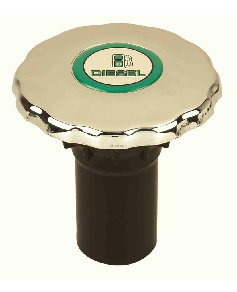 Perko Diesel-, Водо- или Сточные наполнитель трубы с уплотнительным кольцом для 1 - 1/2 дюйма шланга; Non-вентилируемый