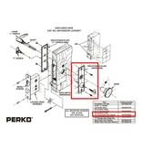 Perko Cabindoor - запасной Щиток Тарелка с ключами для врезной Set