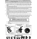 Perko Jachtbrandstofsysteem met antidiefstalvergrendeling voor geventileerde 1 1/2 inch vulpijp