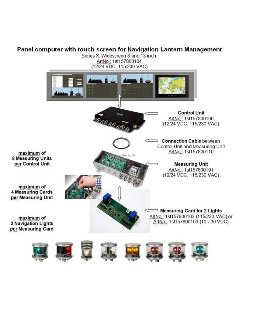 Peters&Bey Sistema di navigazione Lanterna di Gestione certificato - 115/230 VAC SET