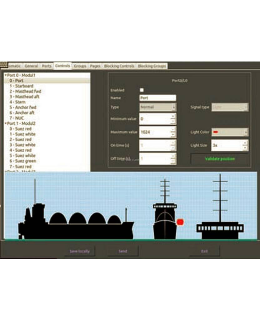 Peters&Bey 115/230 VAC SET - gecertificeerd Navigation Lantern Management systeem