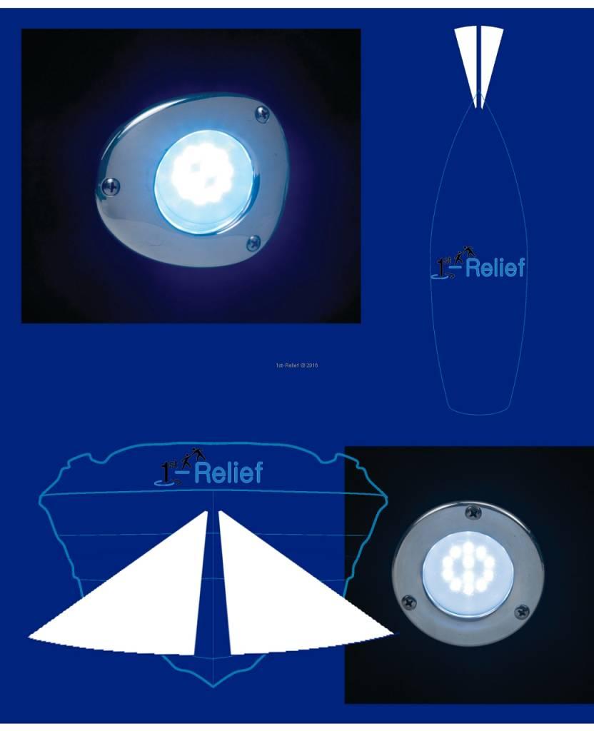 Perko boeg en anker licht LED schip in rechte of hoekige ontwerp