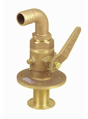 Perko Sea cock curved - ball-valve