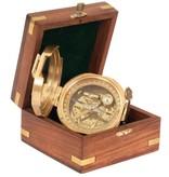 ECOBRA Nostalgische waarneming spiegel kompas, messing