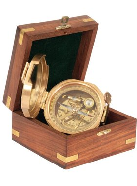 ECOBRA Nostalgic sighting mirror compass, brass