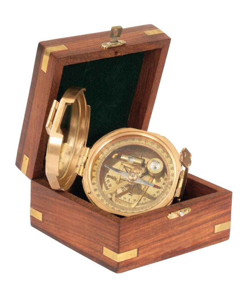 ECOBRA Nostalgic sighting mirror compass, brass