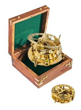 ECOBRA Nostalgic nautical sundial, brass