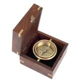 ECOBRA Nostalgic Maritime Desk Compass, Brass
