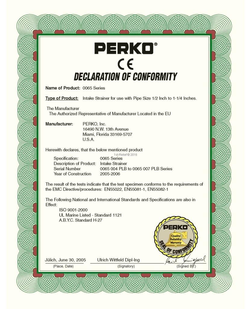 Perko intake Zeef