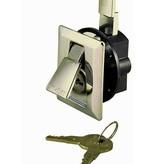 Perko Lock Flush elegante con 2 llaves, cromo plateado en la apariencia perfecta