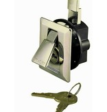 Perko Stylish Flush Lock with 2 keys, chrome plated in perfect appearance