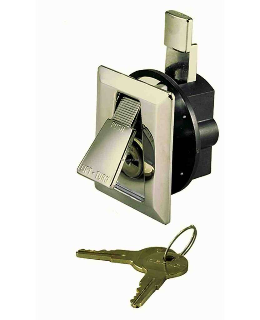 Perko Stijlvolle Flush Lock met 2 sleutels, verchroomde in perfecte uitstraling