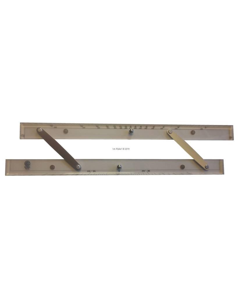 ECOBRA Parallel - righello; Lunghezza 30,5 cm (12 pollici)