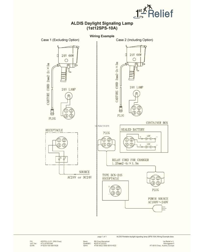 Sanshin Cargador de batería BCN-24S para ALDIS Lámpara portátil de señalización diurna SPS-10A