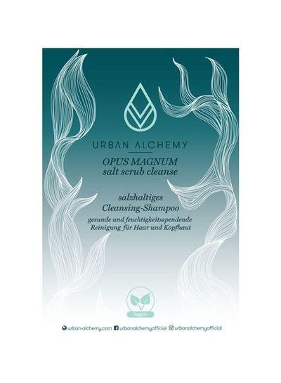 URBAN ALCHEMY OPUS MAGNUM salt scrub cleanse Acryl Aufsteller 10 x 15 cm