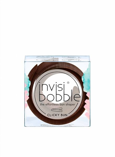 invisibobble® CLICKY BUN Pretzel Brown
