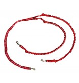 Northern Howl Double Lead with Integrated Shock Absorber for 2 Dogs - Red