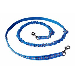 Hands free Dog Leash with integrated Bungee - blue