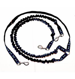 Northern Howl Double Lead with Integrated Shock Absorber for 2 Dogs - Black with sample