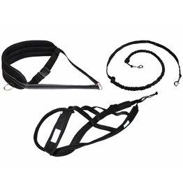 Northern Howl Canicross-Set,  harness X-Back, Joring- Line - black