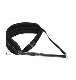 Northern Howl Handsfree Dog Walking Running Jogging Waist Belt - black Pedding/reflectors