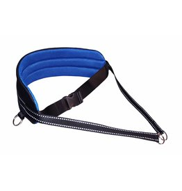 LasaLine Handsfree Dog Walking Running Jogging Waist Belt - Blue Pedding/black