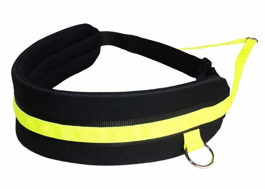 Northern Howl Mains-libres chien marchant Courir jogging Ceinture -jaune néon noir