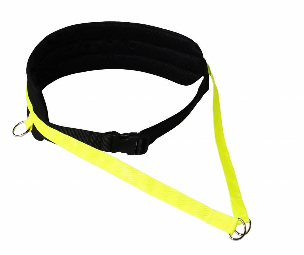 Northern Howl Handsfree Dog Walking Running Jogging Waist Belt - Black neonyellow